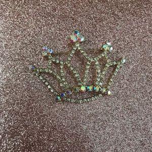 Jewelry - Crown Rhinestone Brooch